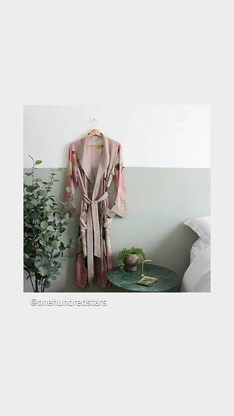 one hundred stars gown pink stork use on