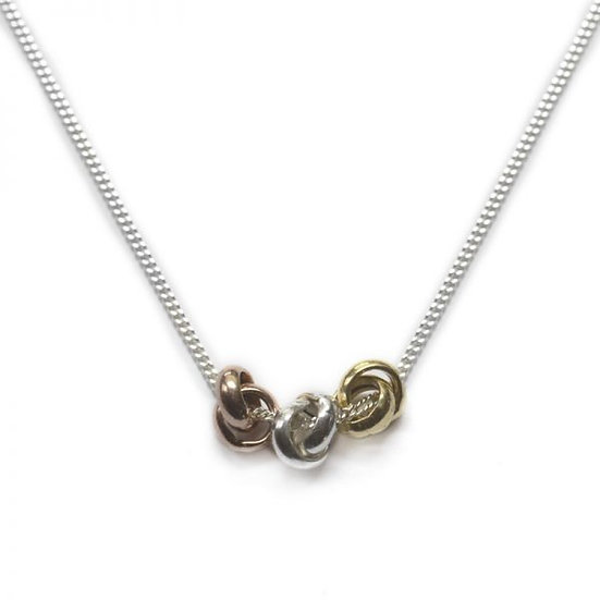 Silver Three Knot Necklace