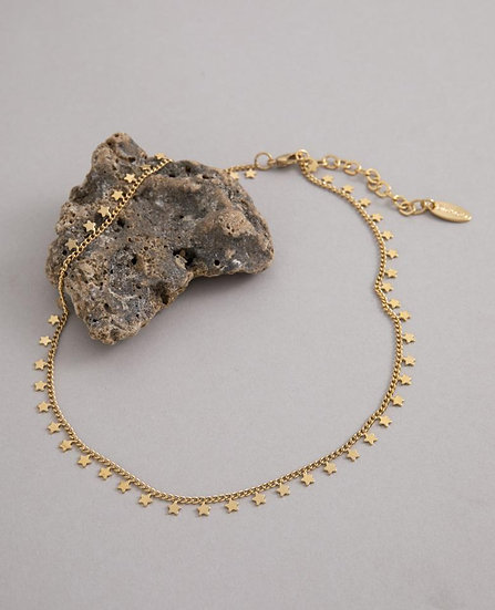 Star Choker Necklace Gold or Silver