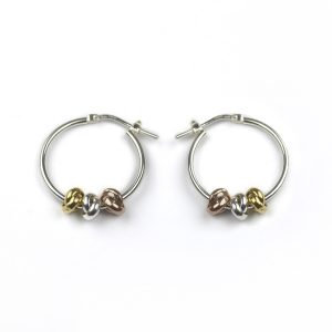 Silver Three Knot Earrings