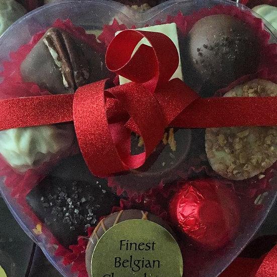 Heart Box of 9 Belgian Chocolates
