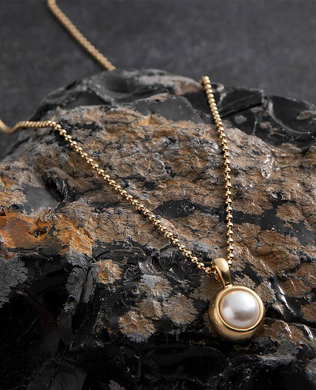 Danon Dottie Necklace Pearl, Crystal or Pacific Opal