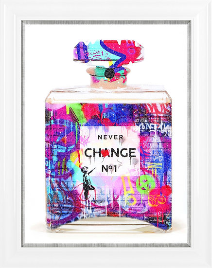 Never Change Purple Perfume Bottle  IV