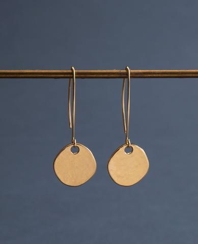 Lapis Gold Drop Earrings