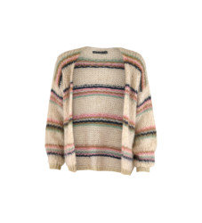Tanya Cream Strip Knit