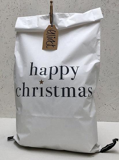 Christmas Paper Sack | White