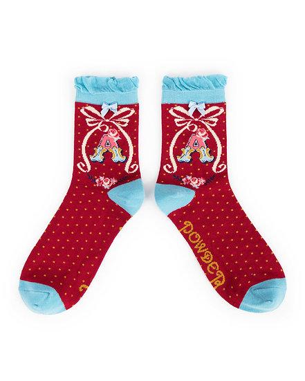 Powder Alphabet Socks