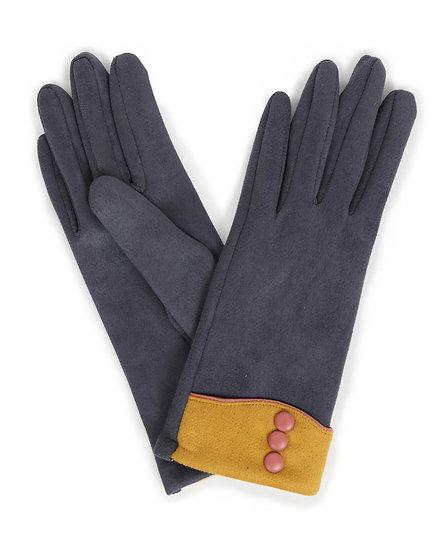 Cassie Faux Suede Gloves