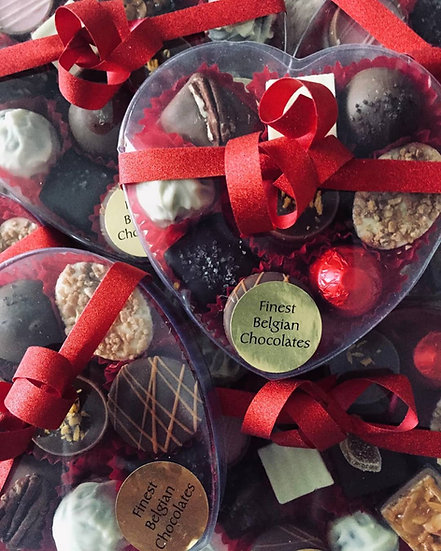 Heart Box of 13 Belgian Chocolates