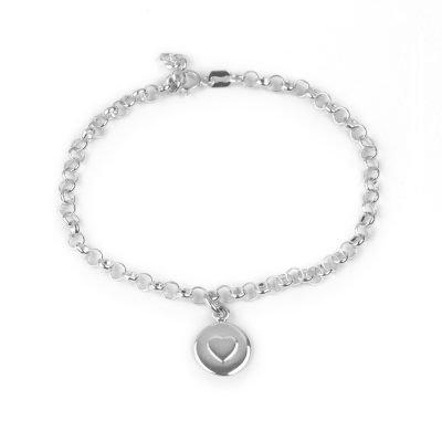 silver love circle bracelet