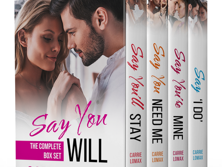 Get the entire Say You Will series for $2.97 (US/UK) from October 12-19!