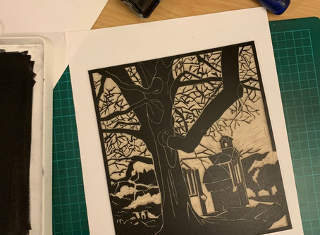 "Behind the print: ""Mary's Chapel"""