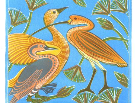 "Behind the print: ""Egyptian Birds"""