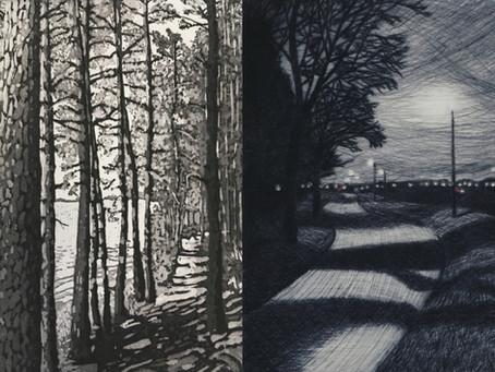 "Behind the print: ""Summer Light"" and ""Night Walk, Blackheath"""