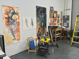 Edlinger-Kunze Contemporary Art - Inside her studio