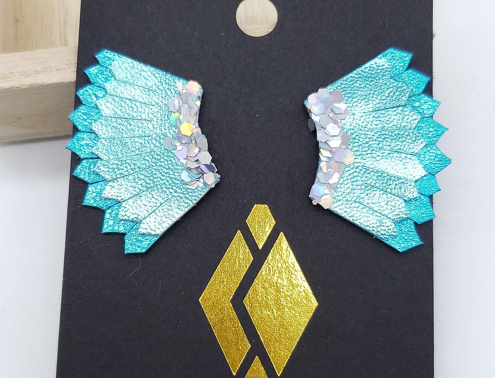 Mixed Teal Mini Wings Satazi Jewelry