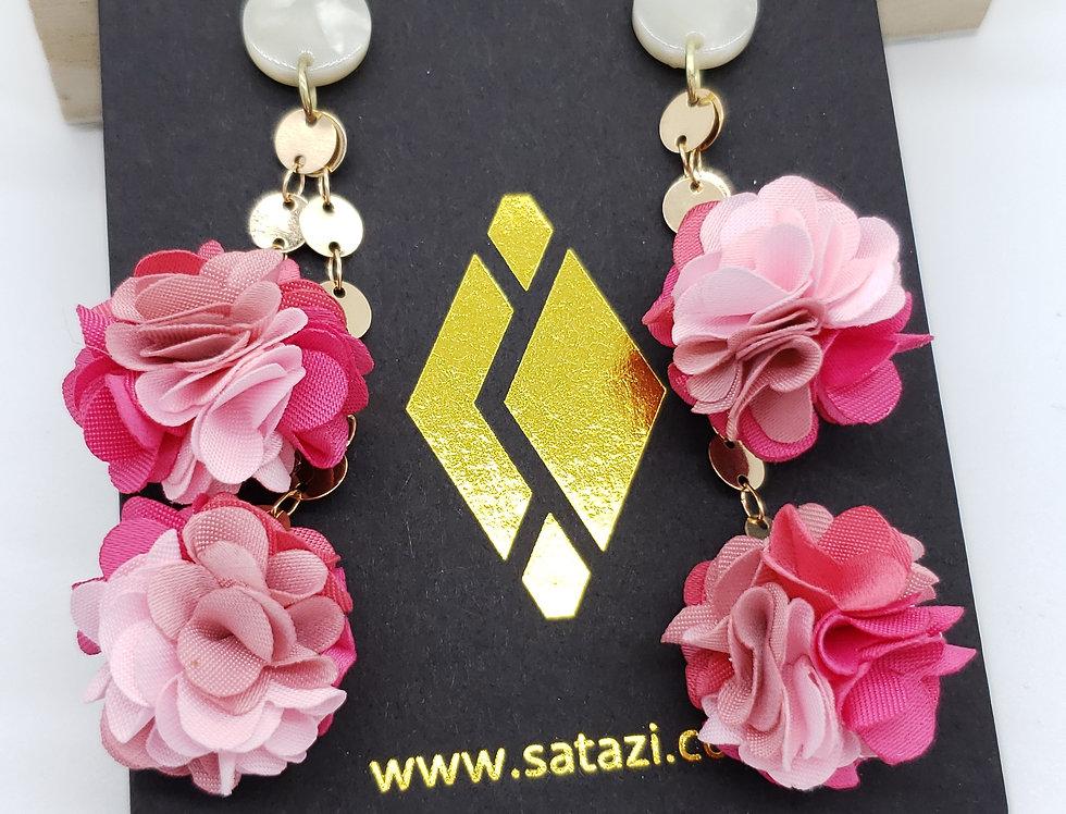 Pom Dangle Earrings by Satazi Jewelry