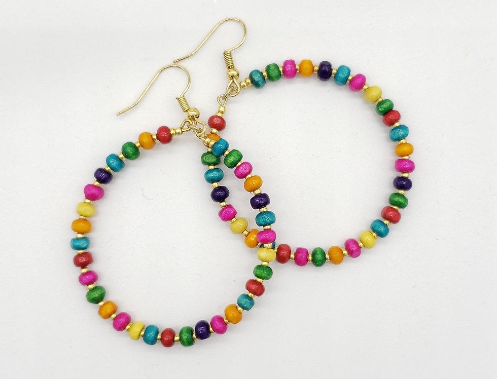 Fiesta Hoop Earrings by Megan Patterson Designs