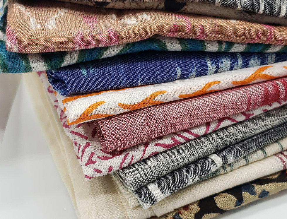 Hand-woven & hand-printed Summer Scarves by PassionLilie