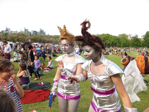 Visitors-Fiona Oliver-Larkin and Jelena Markovic-Meadows Festival-2013