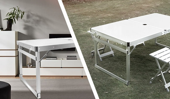 Folding Outdoor Table with Table Cover