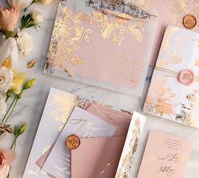 Wedding invitation card design; package design