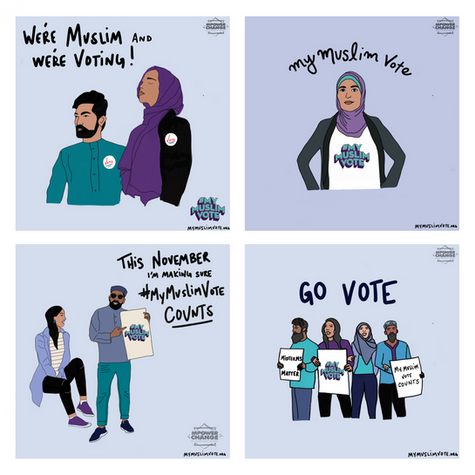 We're Muslim and We're Voting