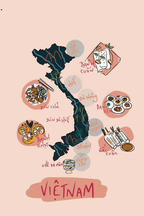 Vietnamese Food Map