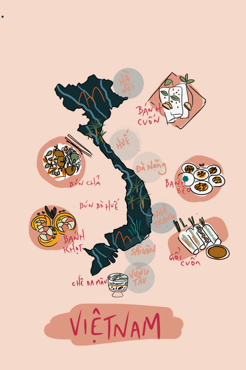 Vietnamese Food Map