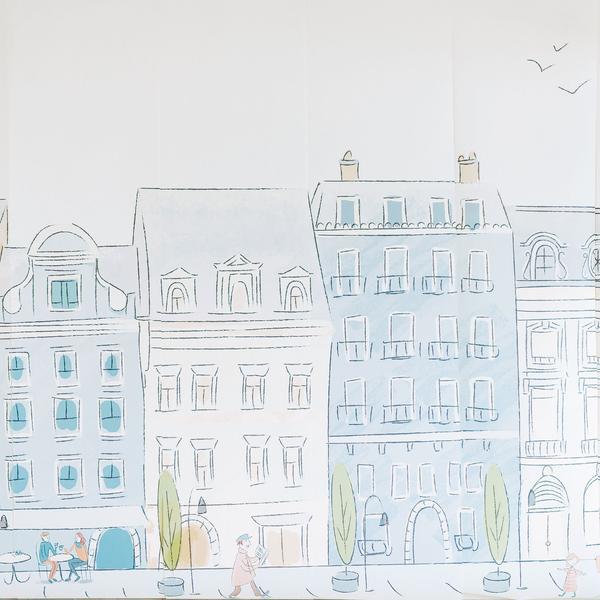 Anew Wall Parisian Street Scene Mural