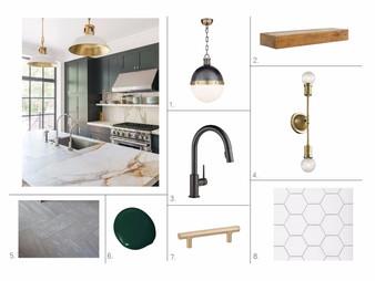 Design Plan: Modern Wet Bar with Green Cabinets