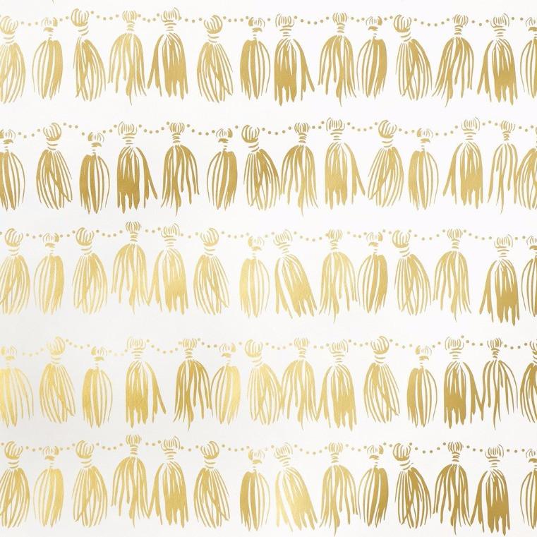 Hygge & West Tassels Wallpaper in Gold