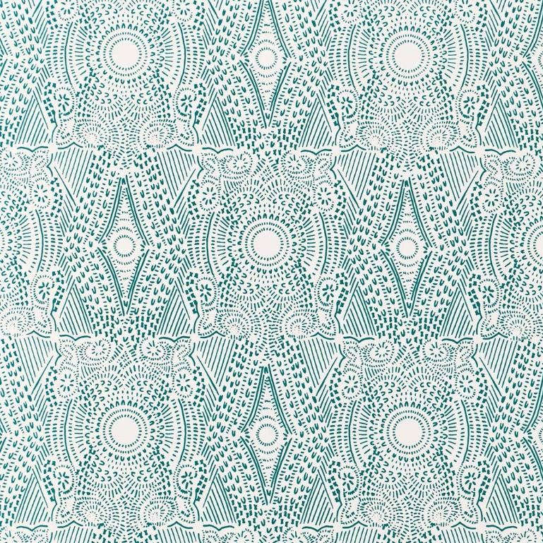 Hygge & West Diamante Wallpaper in Turquoise