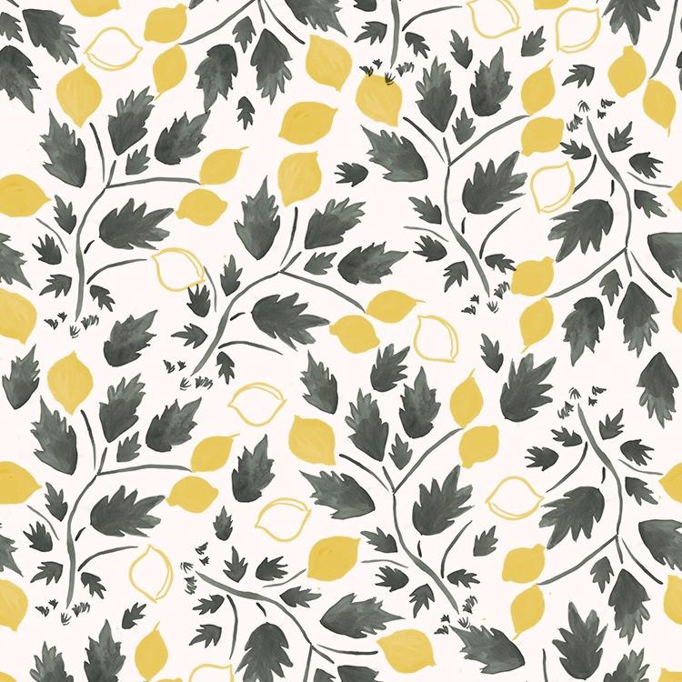 Nottene Lemon Grove Print Wallpaper