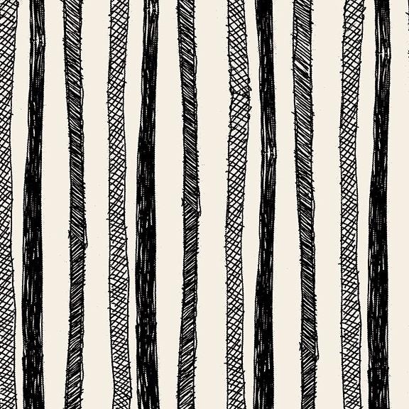 Nottene Stripes Print Wallpaper in Ink