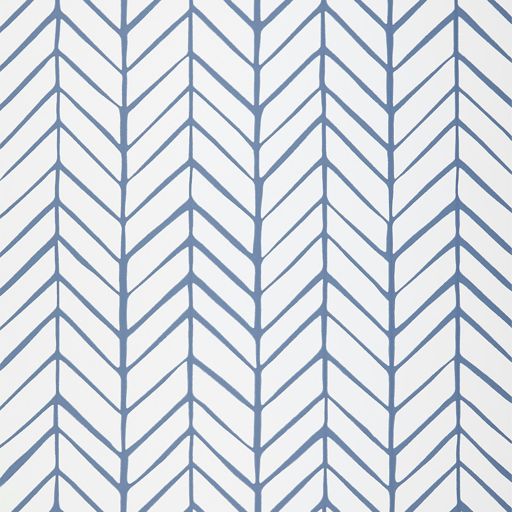 Serena & Lily Feather Wallpaper in Denim