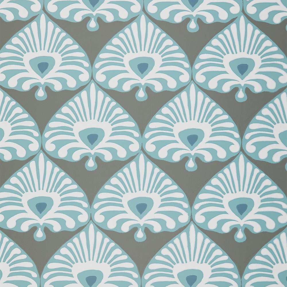Serena & Lily Palmetto Wallpaper in Turquoise