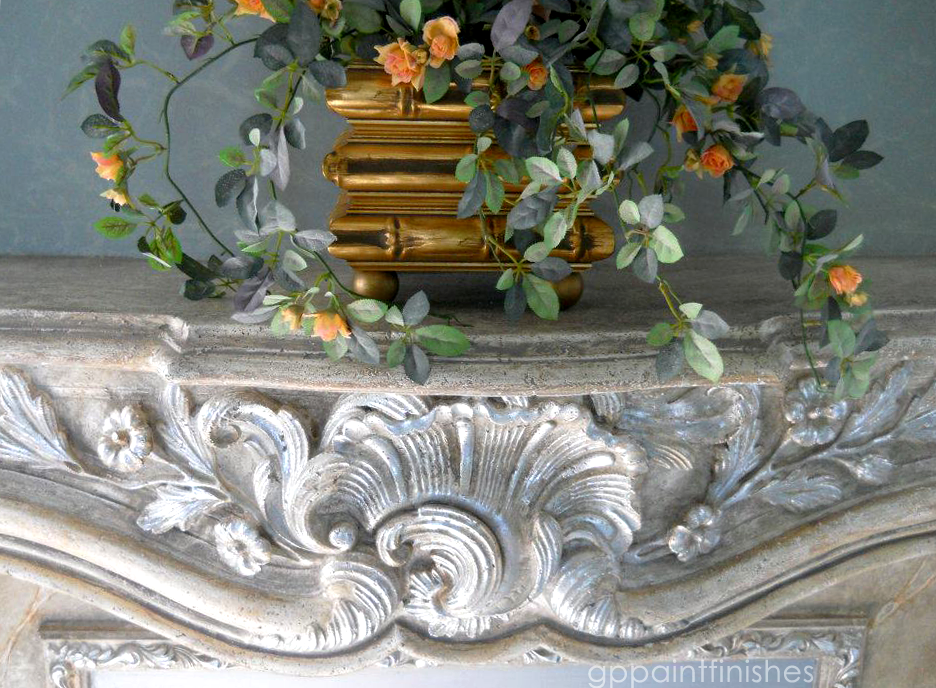 Faux Marble Mantle Piece