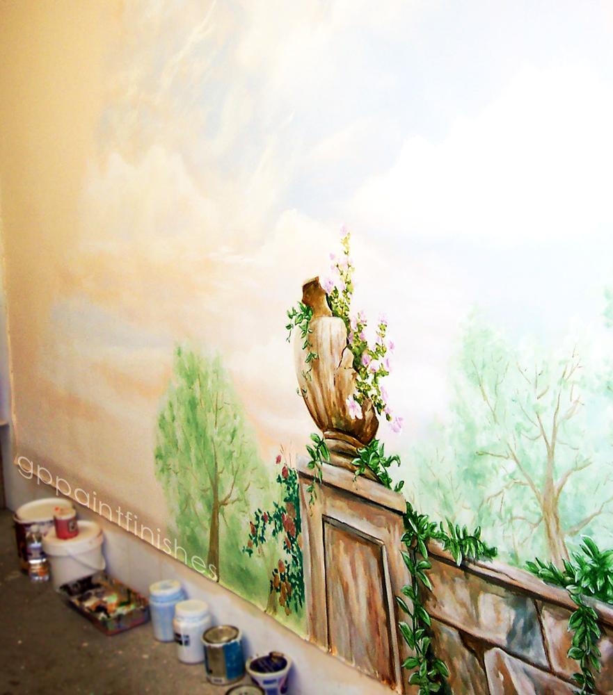 Stone Garden Mural on Canvas