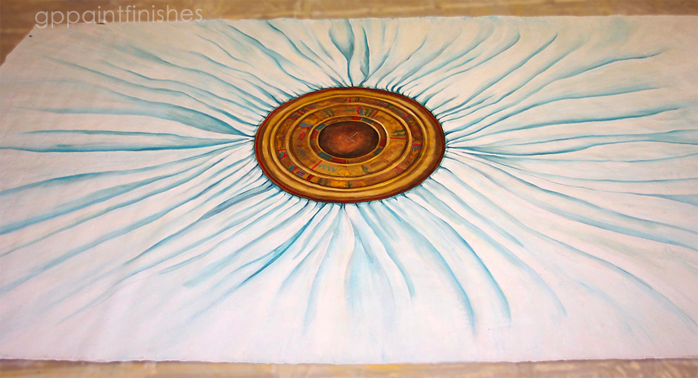 Egypt Inspired Ceiling on Canvas