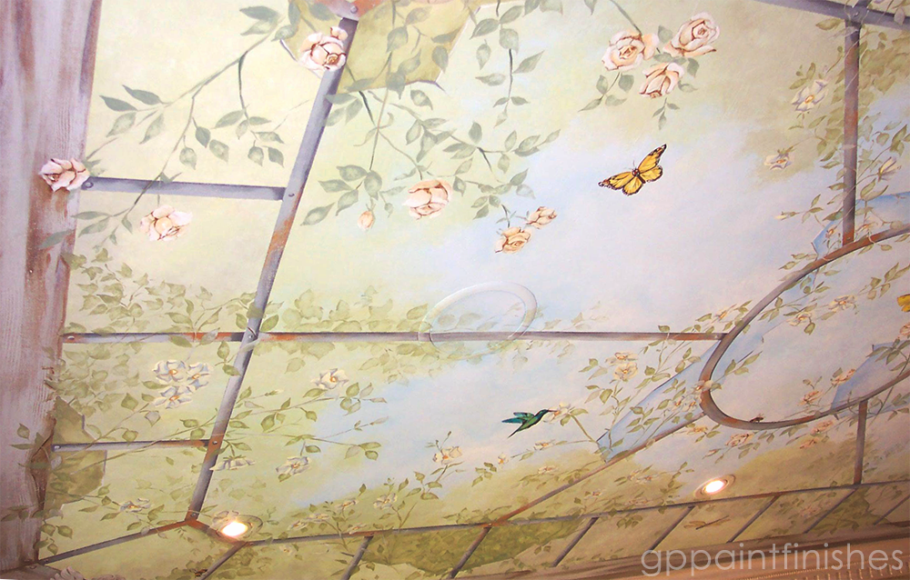 Garden Ceiling Mural on Canvas