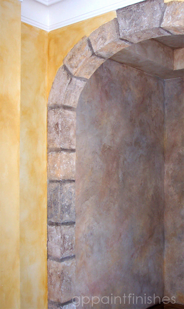 Textured Archway and Wall Finish