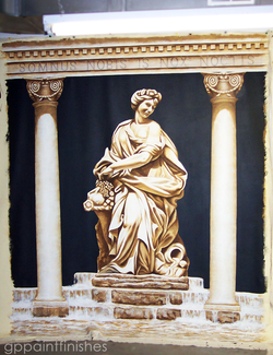 Statue Mural on Canvas