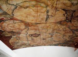 Handpainted Globe Mural on Canvas