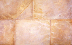 Faux Marble Block Wall Treatment