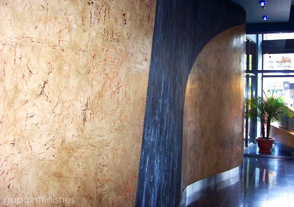 Textured Lobby Wall Treatment