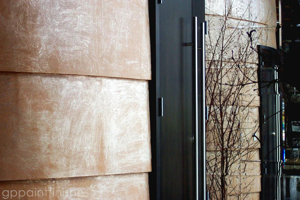 Copper Foil Wall Finish