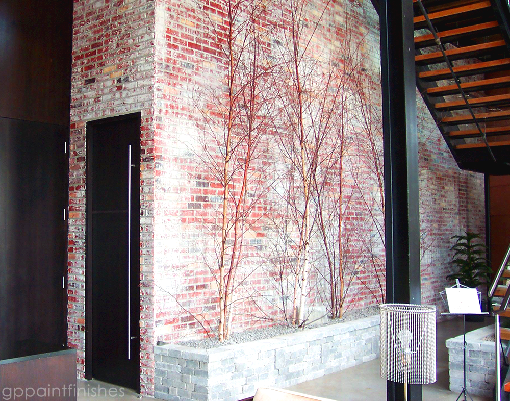 Textured Faux Brick Wall