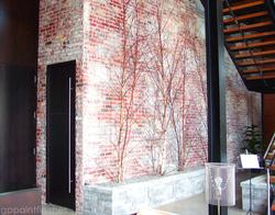 Textured Faux Brick Wall