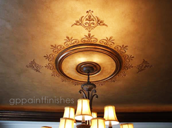 Faux Leather Ceiling  Treatment